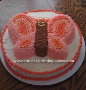 Homemade 1st Birthday Butterfly Cake