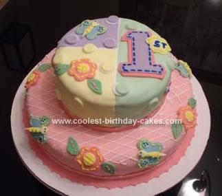 Homemade 1st Birthday Cake