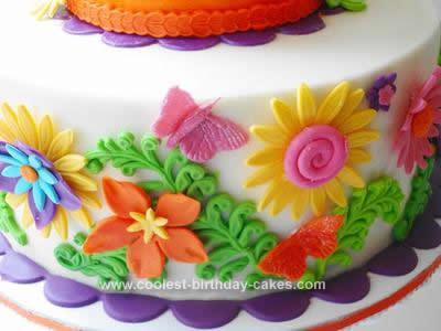 Amazing Stunning Homemade 1St Birthday Cake With Flowers Personalised Birthday Cards Akebfashionlily Jamesorg