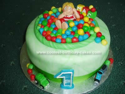 Homemade 1st Birthday Cake Idea
