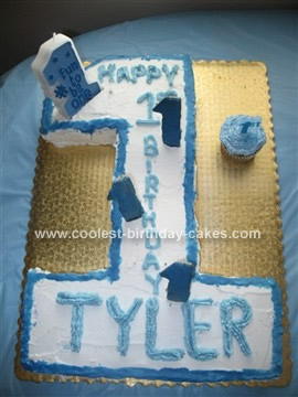 Homemade 1st Birthday Cake Idea
