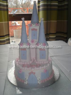 Coolest 1st Birthday Castle Cake