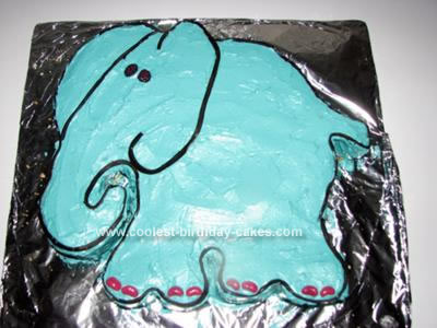 Homemade 1st Birthday Elephant Cake