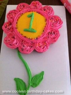 Incredible Coolest 1St Birthday Flower Cake Funny Birthday Cards Online Alyptdamsfinfo
