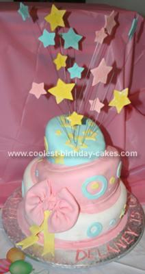Homemade 1st Birthday Topsy Turvey Cake