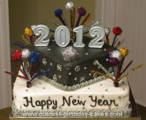 Homemade 2012 New Year's Cake
