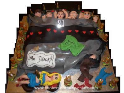 Homemade 21st Birthday Cake