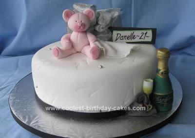 Homemade 21st Cake