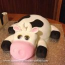 Homemade 21st Cow Birthday Cake