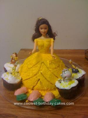 Homemade 2nd Birthday Belle Cake