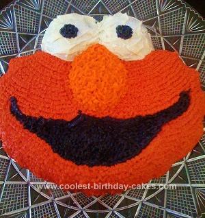 Homemade  2nd Birthday Elmo Cake