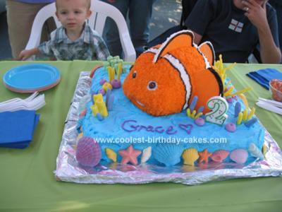 Homemade 2nd Birthday Finding Nemo Cake