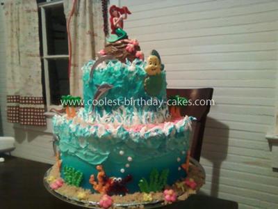 Coolest 2-Tier Ariel Cake