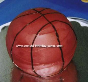 Homemade  3 D Basketball Cake