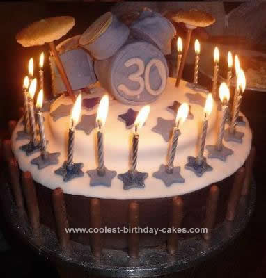 Homemade 30th Drum Cake