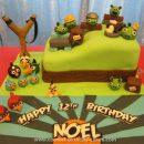 Homemade 3D Angry Birds Cake