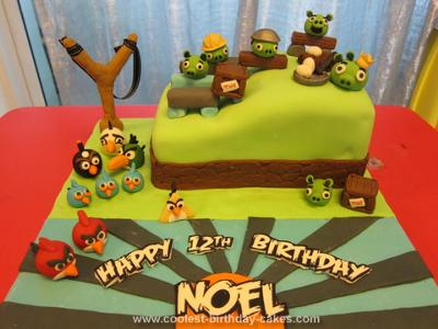 Homemade 3D Angry Birds Cake