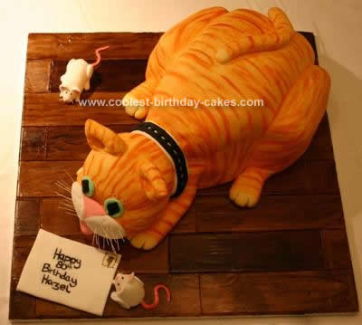 Homemade 3D Cat Cake