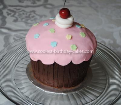 Homemade 3D Cupcake Birthday Cake