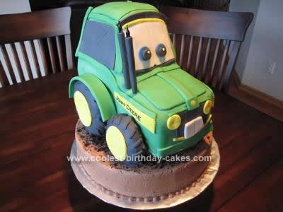 Homemade 3D John Deere Tractor Cake