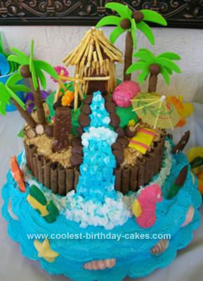 Cool Coolest 3D Luau Birthday Cake Funny Birthday Cards Online Elaedamsfinfo