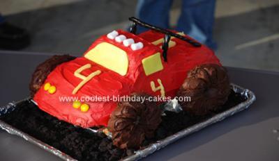 Homemade 3D Monster Truck Cake