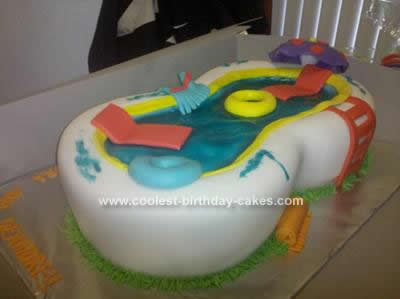 Homemade 3D Pool Cake