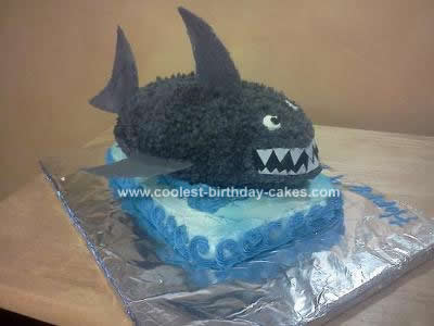 Homemade 3D Shark Cake