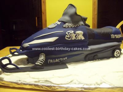 Homemade 3D Ski Doo Snowmobile Cake