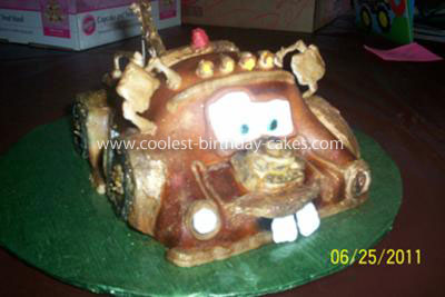 Coolest 3D Tow Mater Cake