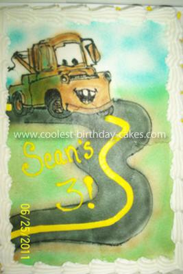 Tow Mater Sheet Cake