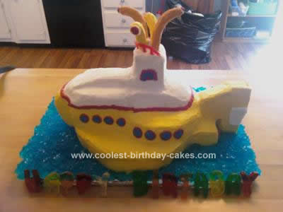 Homemade 3D Yellow Submarine Cake Design