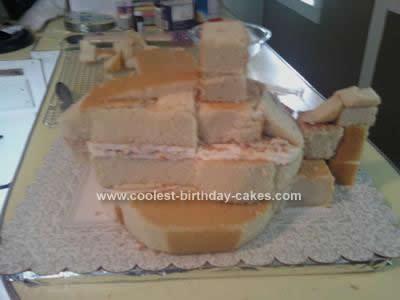 Homemade 3D Yellow Submarine Cake Design