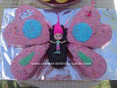 Homemade 3rd Birthday Butterfly Fairy Cake