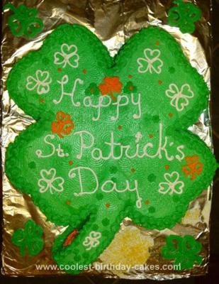 Homemade  4 Leaf Clover Cake