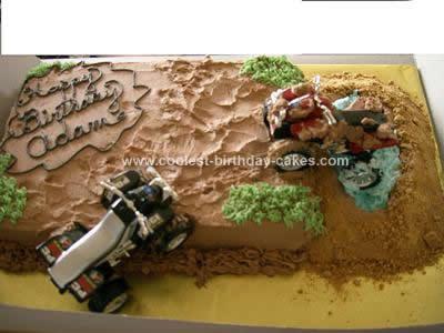 Homemade 4 Wheeling Cake Design