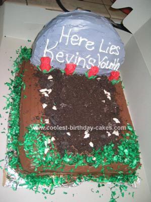 Homemade 40th Birthday Cake
