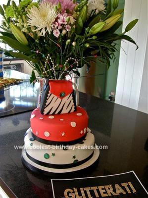 Homemade 40th Birthday Glam Cake