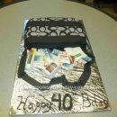Homemade 40th Birthday Purse Cake