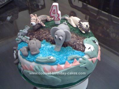 Homemade 4th Birthday Jungle Cake