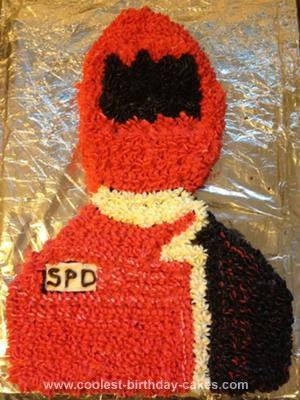 Homemade 4th Birthday Power Rangers Cake