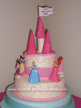 Homemade 4th Birthday Princess Cake