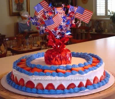 Homemade 4th of July Birthday Cake