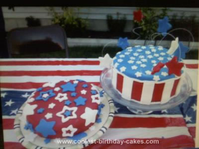 Homemade 4th of July Cake