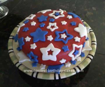 Homemade 4th of July Cake