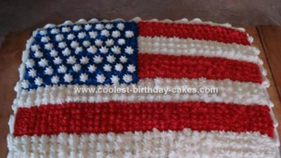 Homemade 4th of July Cake Idea