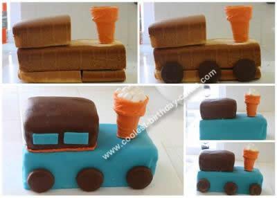 Homemade 4th Train Cake Idea