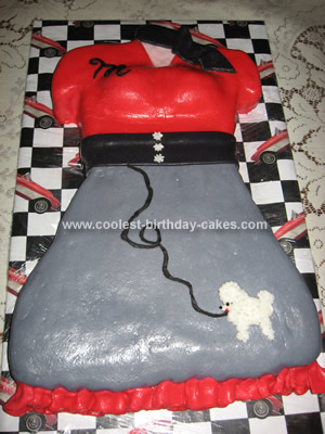 Coolest 50s Skirt Cake