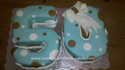 Homemade 50th Birthday Cake