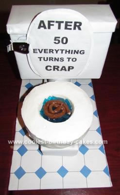 Funny 50th Birthday Cake Toilet Cake